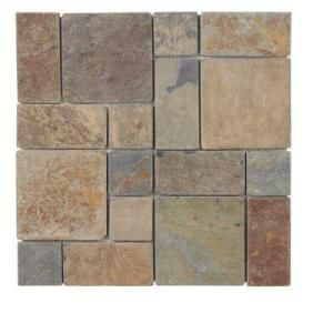 Jeffrey Court, Rust Block Medley 12 in. x 12 in. Slate Wall Accent Trim Tile, 99124 at The Home Depot - Mobile