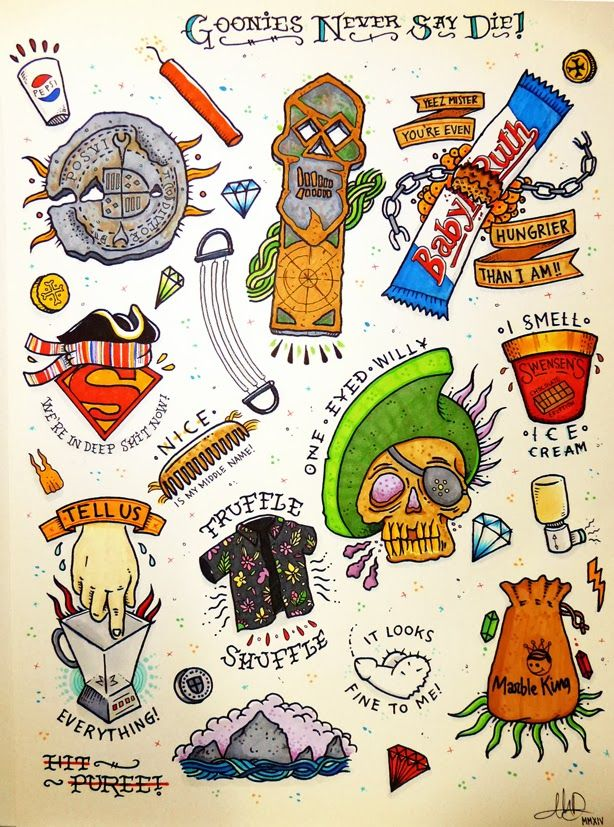 Goonies Key Tattoo Be tattooed, because it is