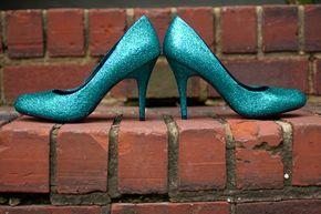 Brautjungfern Schuhe blau Schuhe Hochzeit blau high von RagzDagzTM