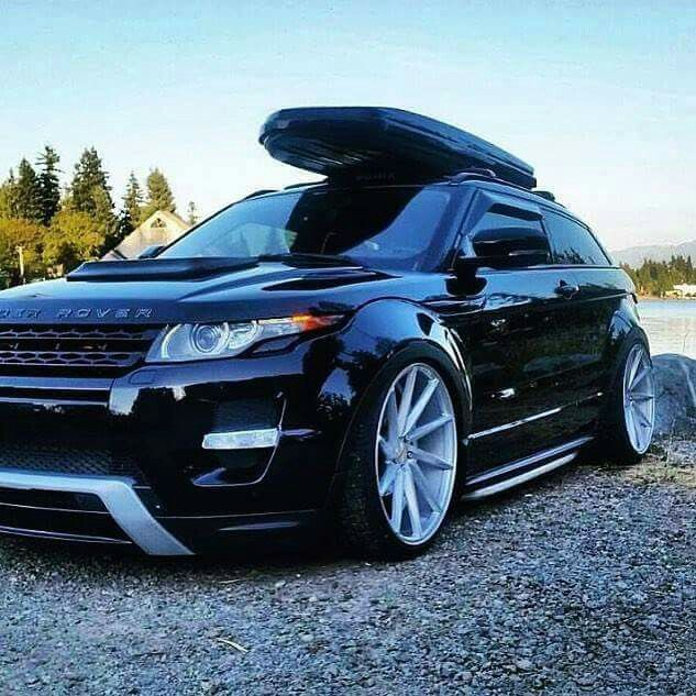 Find More 2009 Range Rover Sport Hse Automatic For Sale At: Stanced Range Rover Evoque On Vossen Wheels