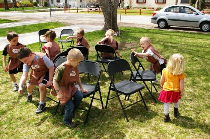 Play musical chairs mad hatter tea party style!