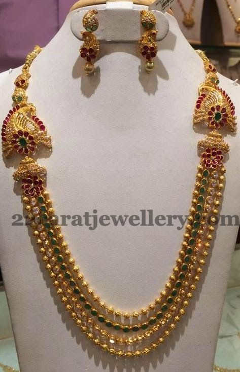Jewellery Designs Gundla Haram 2 5 Lakhs Worth J Lls