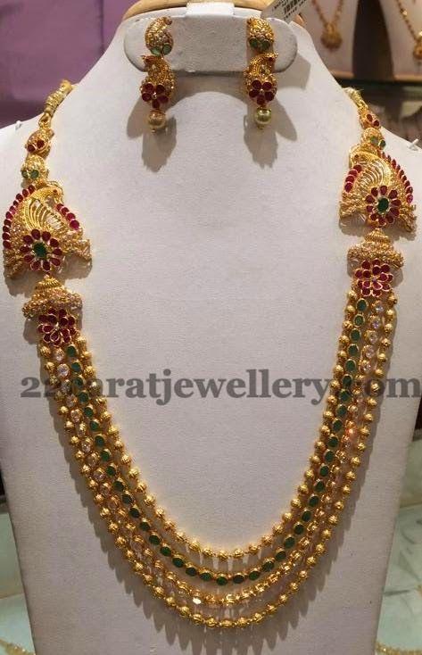 Jewellery Designs: Gundla Haram 2.5 Lakhs Worth