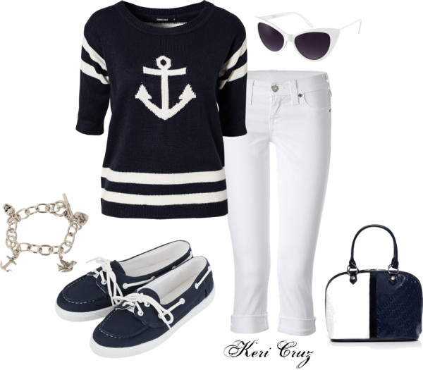 """Anchors Away..."" by keri-cruz on Polyvore"