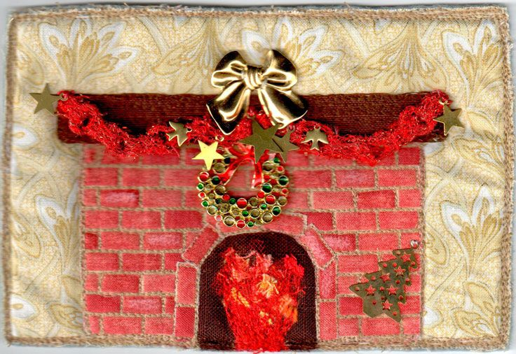 My English family would have dreamt of Christmas around an open fire.. by Andrea Taylor