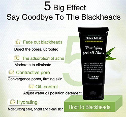 Blackhead Remover Mask Black Peel off Mask Purifying Acne Face Peel Off Black Mud Mask (1)