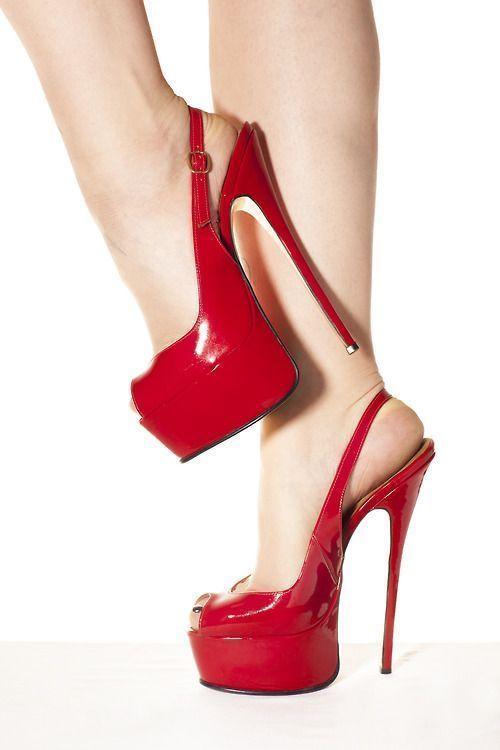 Red stilettos #platformhighheelssandals #platformhighheelsstilettos
