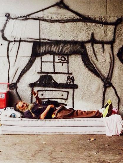 Homeless people are getting their dream homes, thanks to this street artist