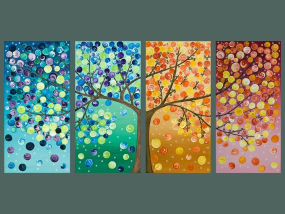 tree painting! how fun@Jenny Reams McCrum