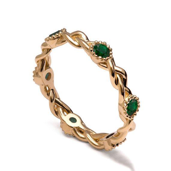http://rubies.work/0424-sapphire-ring/ 0838-ruby-pendant/ Braided Emerald Band 18K Braided Eternity by DoronMeravWeddings