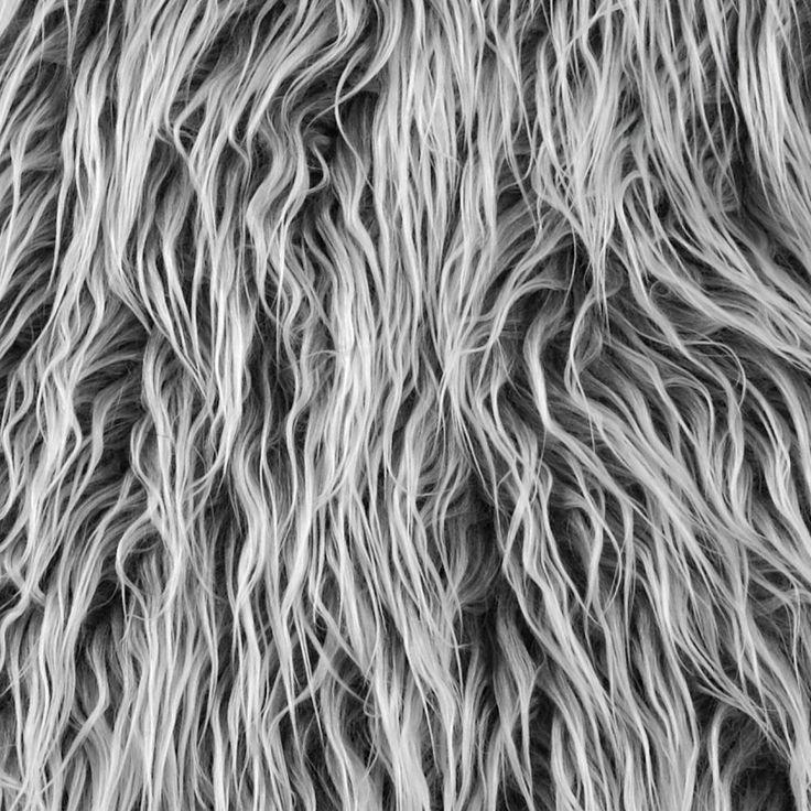 Shannon Lux Fur Mongolian Grey Frost Fur Pillow Faux