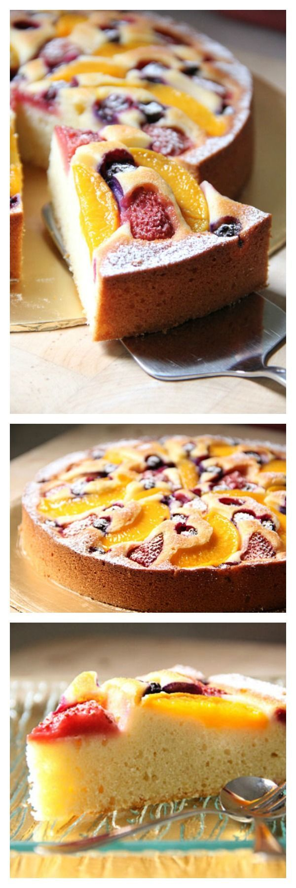 Fruit pastry cake - yummy, juicy fruits on top of a rich and sweet cake. AMAZING recipe that you have to bake | rasamalaysia.com