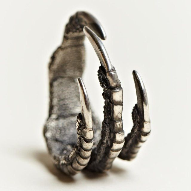 Silver claw ring - Ann Demeulemeester | macabre | dark fashion | goth | obscure | high fashion | high end jewelry