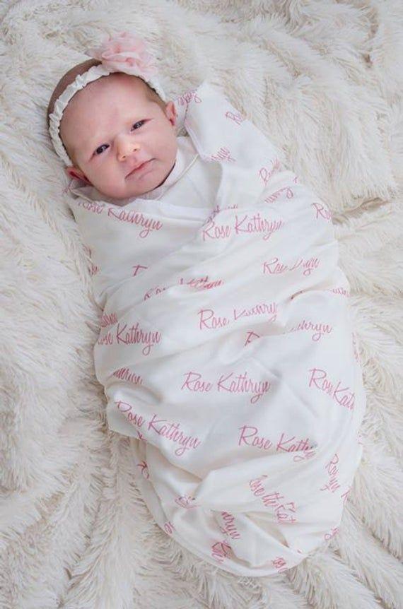 Personalized Swaddle Blanket 100 Organic Cotton Baby Blanket Personalized Name Blanket Newborn Blanket Personalized Swaddle Blanket Organic Cotton Baby Blanket Cotton Baby Blankets