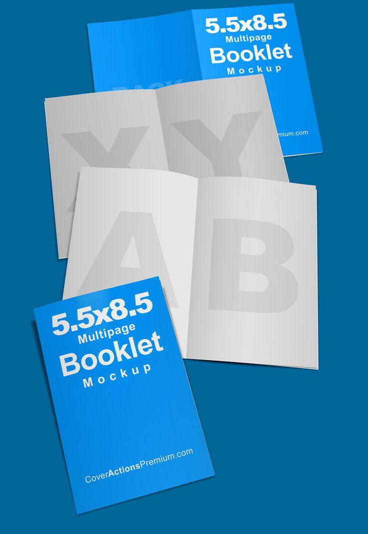 5 5 X 8 5 Open Brochure Mockup Template Cover Actions Premium Mockup Psd Template Brochure Mockup Template Brochures Mockups