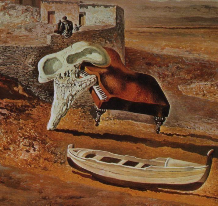 """""""Atmosphärische Schädel"""", 1934 von Salvador Dali (1904-1989, Spain)"""
