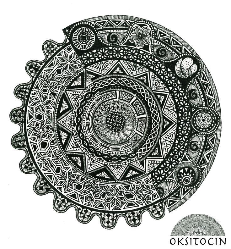 Asymmetrical Symmetry Mandala By Oksana Oksitocin