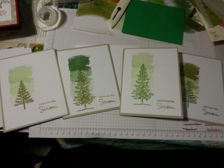 My favourite seasonal card set. Lovely as a tree. Fest of trees. Work of art. Old olive. Gumball green. Sahara sand. Endless wishes. Stampin up.