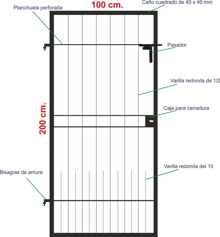 Puerta De Rejas De Hierro - $ 1.450,00 en MercadoLibre