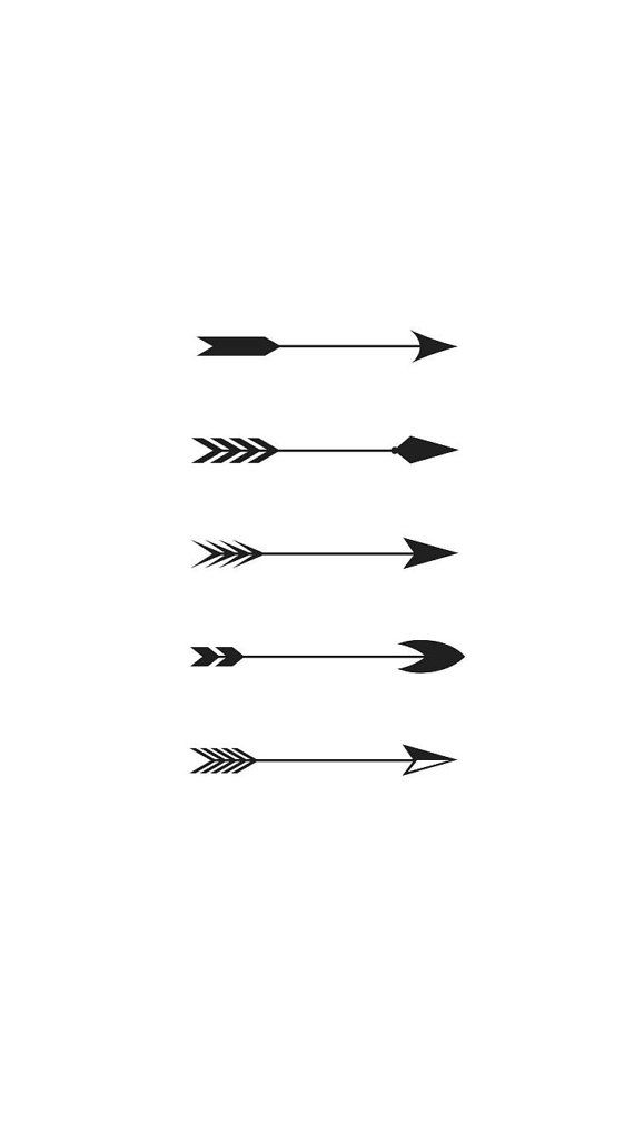 5 Mini Tiny Arrow Temporary Tattoos various sizes by TabooTattoo