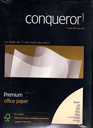 100 Feuilles de Papier A4 Conqueror Vellum Laid - Premium Office Paper Conqueror http://www.amazon.fr/dp/B00LOQCRDC/ref=cm_sw_r_pi_dp_cDAxwb00QTP2Z