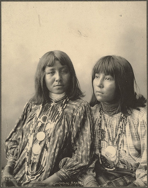Brushing Against, Little Squint Eyes, (San Carlos Apaches) 1898