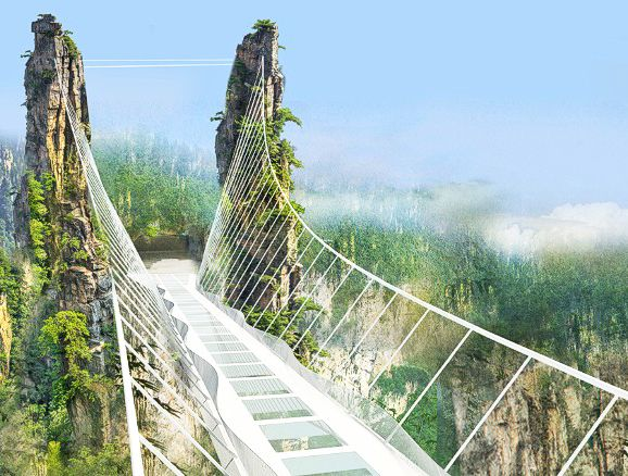World's tallest and longest glass bridge announced for China's Zhangjiajie Grand Canyon | Inhabitat - Sustainable Design Innovation, Eco Architecture, Green Building