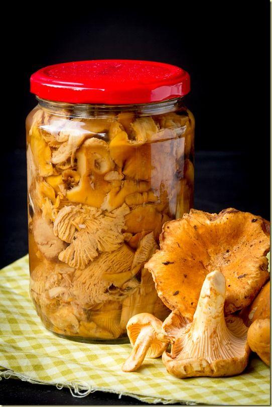 Canned Chanterelles mushrooms консервированные грибы  #Russian_food #Russian_recipes