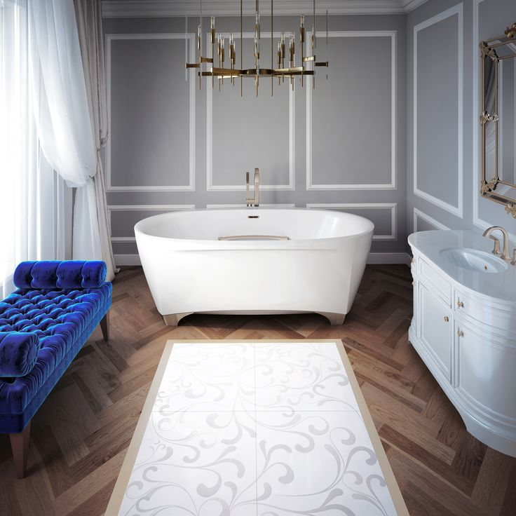 SCALA, a new collection of bathtubs with luxurious, modern design and classic elegance.   This freestanding bathtub has an aesthetic refinement that translates into a contemporary version of the Rococo style bath- tub on lion�s feet.   The name Scala was inspired by the �Teatro alla Scala�, the 200+ year old famous opera house in Milan.   As the audiences of the theater reveled in inspiring performances, so too will bathing in the Scala take you away to a world of refined and soothing…