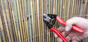 I just found this D.I.Y. Project on Bunnings.com.au. Check it out https://www.bunnings.com.au/diy-advice/outdoor/fences-and-gates/how-to-install-bamboo-screening