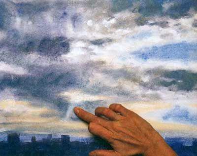 Как нарисовать небо акриловыми красками. Мастер класс. Уроки рисования