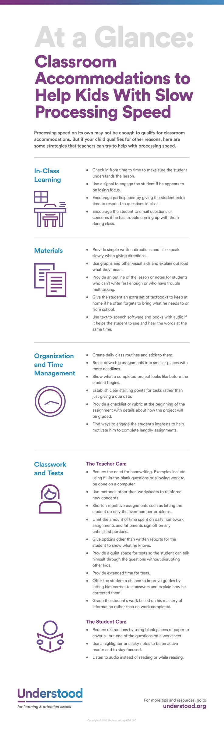 Classroom Accommodations for Slow Processing Speed
