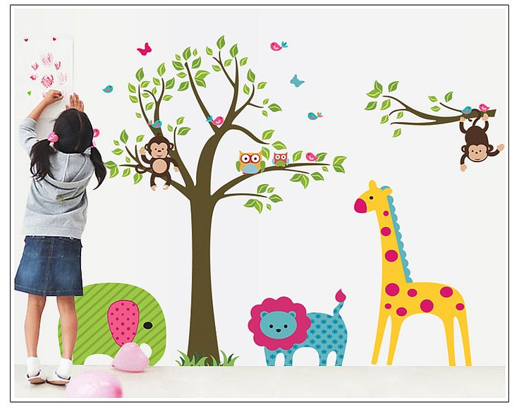 Kids Jungle Animals Wall Stickers Decals Best Prices With FREE Next Day  Delivery . Part 82