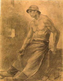 Constantin Meunier (Belgian, 1831-1905), Fatigue.