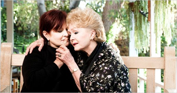 Carrie Fisher and Debbie Reynolds.  Father Eddie Fisher is out of the picture.  Way out of the picture.