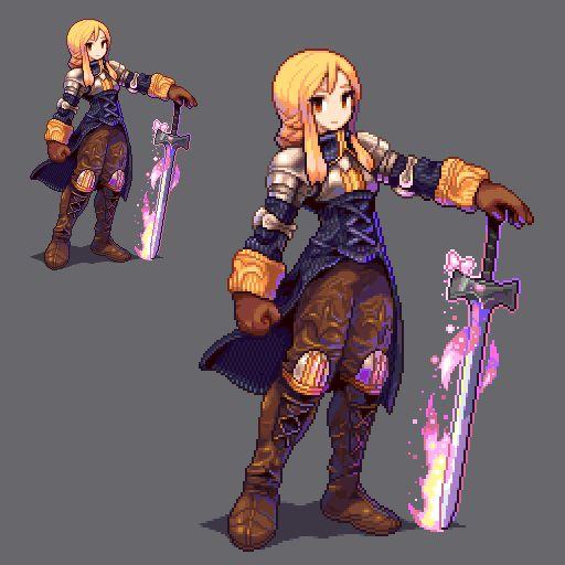 シロス on Twitter Pixel art characters, Pixel art games