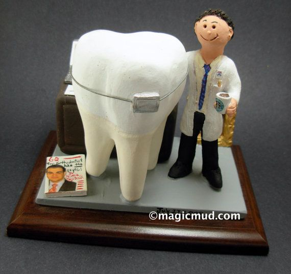 Orthodontist's Gift  www.magicmud.com    1 800 231 9814    magicmud@magicmud.com $225  Personalized #Dental Gift Figurines, custom created just for you!    Perfect present for all #Dentist,  male or female, a gift for birthdays, graduations, anniversaries, new office openings, retirement,  as a thank you to a great dentist!  Prosthodontist, Periodontist, Oral Surgeon, Endodontist, Oral Hygienist, Pedodontist, Dental Assistant, General Dentist,  any occupation made to to order by #magicmud