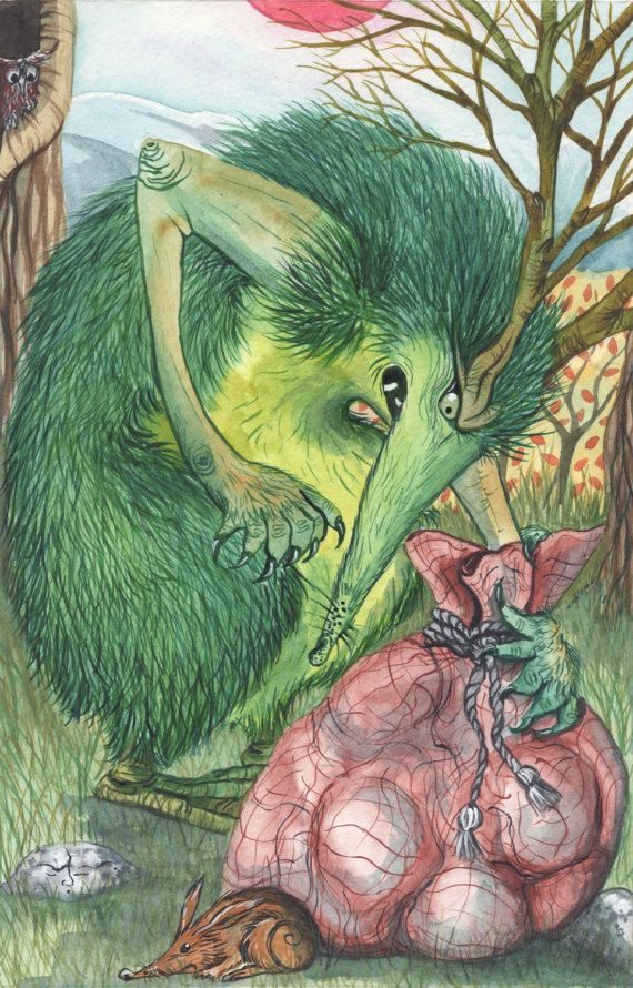 Luck! - A3 Print by Jacqui Lovesey from 'The Puzzle of the Tillian Wand' - fantasy art.