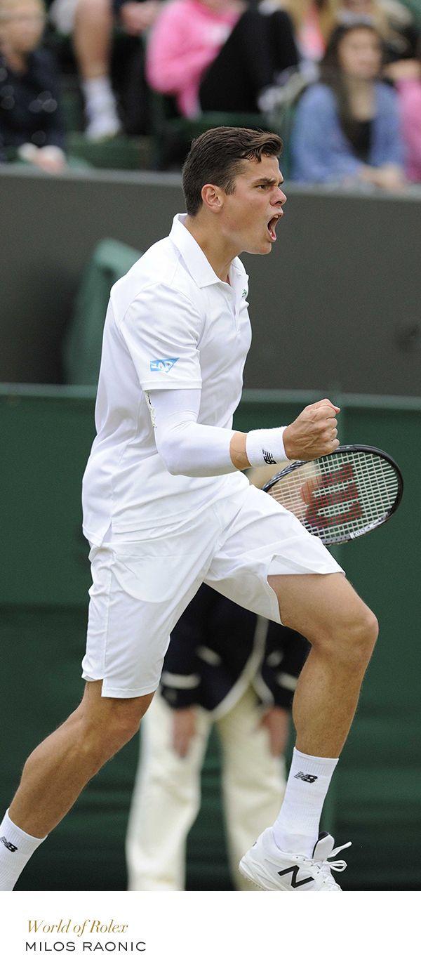 Milos Raonic #Wimbledon #Tennis #RolexOfficial