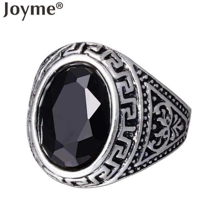 Vintage Bohemian Rings For Women Cheap Price Oval Resin Boho RetroTibetan Silver Alloy Red Black Male Men Gothic Ring Anel