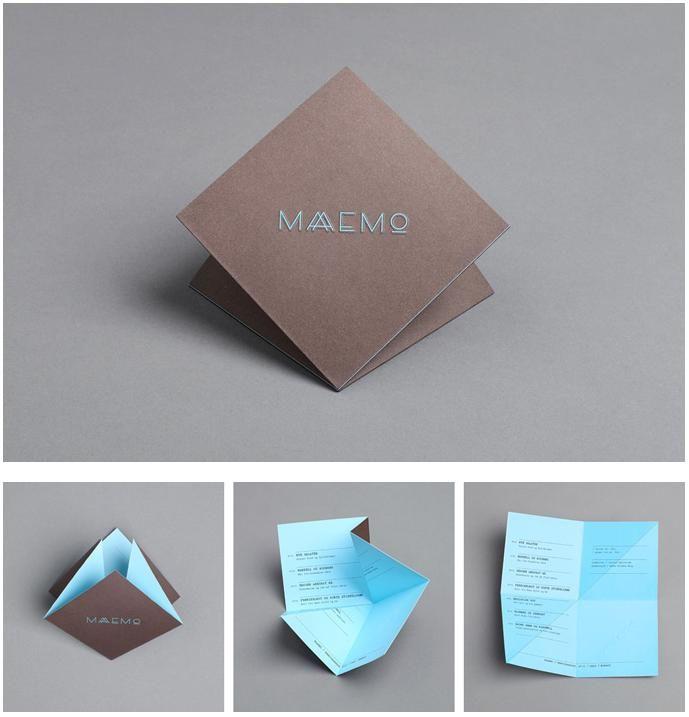 Origami Menu Like Wuuttt Graphic Design Inspiration