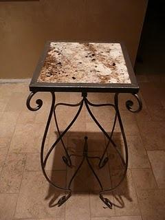 Aurastone Faux Granite table top.