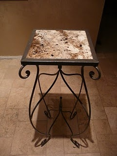 Aurastone Faux Granite table top.