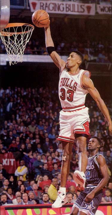 Scottie Pippen the pride of the University of Central Arkansas (my alma mater)