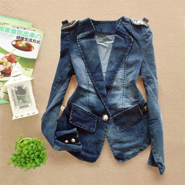 Джинсовый пиджак fornarina с карманами на спине