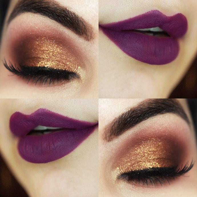Gold Purple Makeup