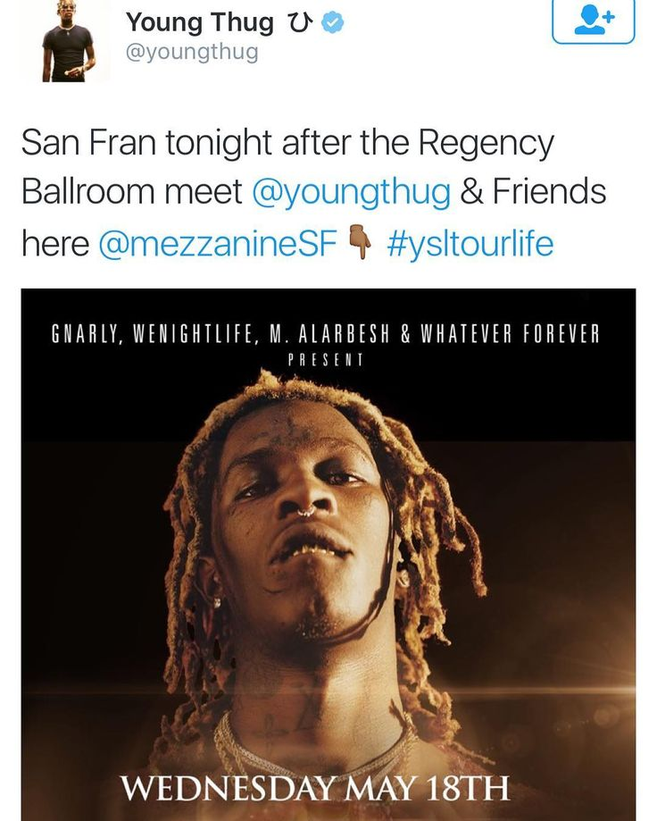 Where u at tonight? Pull up to Mezzanine and let's kick it with YOUNG THUG after his sold out concert... @djamen3000 @shabazzo @wenightlife @gnarlypresents by pvolfovski