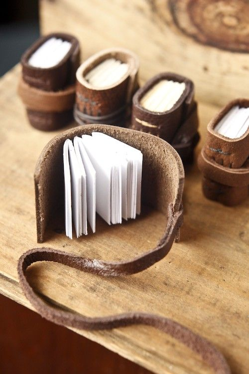 Mini Journals Leather Set of 5 by wayfaringart on Etsy
