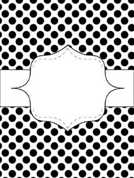 Free! {Editable} Binder Covers! {Turquoise, Black, & Grey}