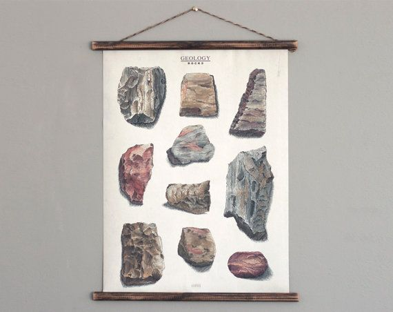 Rocks  Geology  canvas poster  vintage educational by ARMINHO
